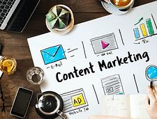 content marketing flatlay